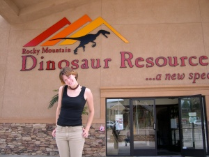 Me at the Dinosaur Resource Center, July 2004