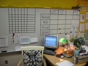 Sample focus board, so students know what they're expected to know and why.