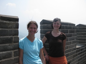 "Caryn and I took the ""hard"" option for our hike up the Great Wall."